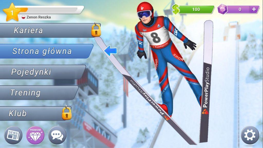 Ski Jump Mania 3 gra skoki narciarskie